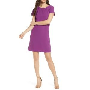 CHELSEA28 Crepe Shift Dress In Purple Small